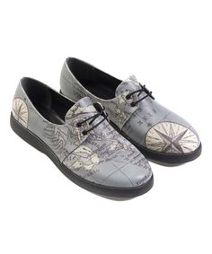 Love this Silence of The Bees Gray Map Sneaker by Silence of The Bees on #zulily! #zulilyfinds