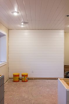 Oh man, it felt so good to cross this project off our checklist. Here's where I left off in my last post when we finished the ceiling planks and had the wiring ready for lights and speakers: …