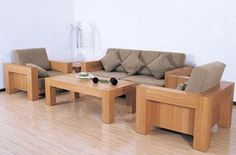 Wooden sofa set designs are applicable decoration idea for living room. The interior design will be in awesome design with the wooden sofa set designs. Wooden Living Room Furniture, Modern Wood Furniture, Living Room Sofa, Sofa Furniture, Furniture Design, Bella Furniture, Furniture Sets, Furniture Makers, Furniture Online