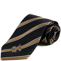 New Orleans Saints Striped Woven Necktie