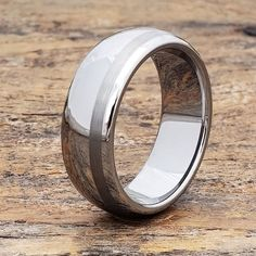Tungsten Wedding Band Rings for Men Mens Tungsten Ring Unique Wedding Bands, Wedding Men, Wedding Ring Bands, Antler Wedding, Fall Wedding, Wedding Stuff, Wedding Ideas, Tungsten Mens Rings, Tungsten Wedding Bands