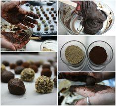 τρουφάκια σοκολατένια σαν πλασμένα από πηλό - Pandespani.com Cookies, Chocolate, Desserts, Food, Crack Crackers, Postres, Biscuits, Deserts, Hoods