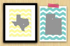 Darling Custom Chevron State Prints 53% off at Groopdealz
