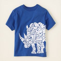 boy - graphic tees - rhino word graphic tee | Children's Clothing | Kids Clothes | The Children's Place
