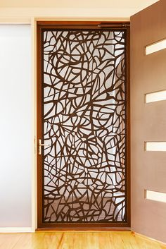 Retractable Screen Doors And Windows For Your Home . Period Style Screen Doors Restoration Design For The . Home and furniture ideas is here Outdoor Metal Wall Art, Metal Wall Decor, Metal Art, Wooden Door Design, Wooden Doors, Security Screen, Security Doors, Laser Cut Screens, Metal Screen