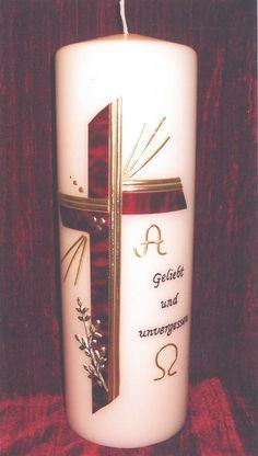 Bildergebnis für trauerkerzen bilder Pillar Candles, Candle Sconces, Wall Lights, Creative, Crafts, Decor, Google, Candle Making, Cards