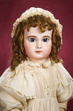 """Gorgeous French Bisque Bebe E.J. by Jumeau,Size 15,with Exquisite Costume 31"""" (79 cm.)"""