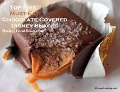 Top Five Must-Eat Chocolate Covered Disney Snacks!!