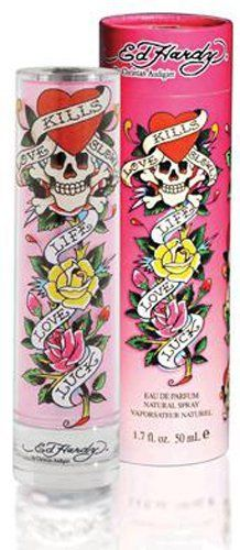 Ed Hardy by Christian Audigier Eau De Parfum Spray 1.7 oz by Christian Audigier. $22.15. Year Introduced: 2008. EAU DE PARFUM SPRAY 1.7 OZ. Fragrance Notes: apple, mango, strawberry, red grapefruit, feesia, watery muget, linden blossom, warm amber, musk, tonka bean, and vanilla puddin. Launched in 2008 this trendy scent is a fruity floral with notes of apple souffl mango wild strawberry rudy red grapefruit freesia petals watery muguet linden blossom warm amber musk tonka bean...