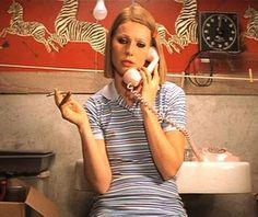 Poker straight bob, Lacoste dress, kohl eyeliner, penny loafers, ratty fur coat, wooden ring finger, secret cigarettes: arrested development never looked so chic.