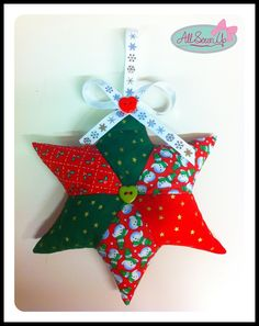 Christmas Sewing Projects | Patchcwork star Christmas Decoration project