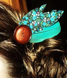 DIY Feather & Flower Hair Tie