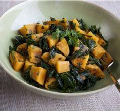 Sautéed Kale with Sweet Potatoes