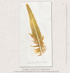 """""""Beauty is the illumination of your soul"""" ~John O'Donohue May you discover the beauty within you. $48.88 """"Angel of Illumination"""" is an original 4"""" x 6"""" monotype created on archival arches watercolor paper..."""