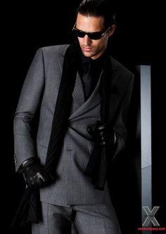 Michael Gstoettner. Men's double breasted suit