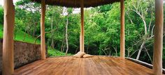 Jungle retreat. Perfect place for *Firefly Yoga Flow* with Jackie (click image)!  #YogaDownload #TakeYogaAnywhere