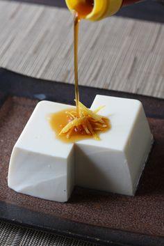toufu, yuzu taste soy sauce and vinegar, 豆腐、柚子ポン酢