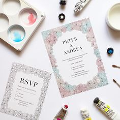 One invitation, endless possibilities! Choose between a stunning watercolour…