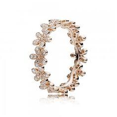 282116663 Dazzling Daisy Band, PANDORA Rose™ & Clear CZ Pandora Bracelets, Pandora  Jewelry