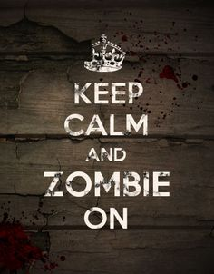 I made this graphic for fun to promote our zombie film @Ed K