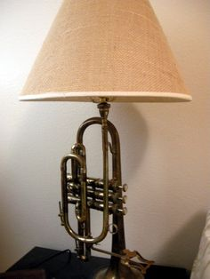 trumpet lamp; could do this with clarinet, flute, violen, or pretty much any instrument!