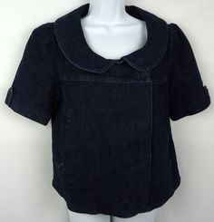 Freedom of Choice by Anthropologie Blue Denim Jacket Women's Large (#263) #Anthropologie #JeanJacket