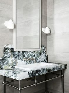 Tamsin Johnson creates distinctive interiors, styling with unique furniture pieces to create spaces that are eclectic and refined. Decor, Interior, Lighted Bathroom Mirror, White Sectional, Bathroom Mirror, Bathroom, Interior Inspo, Bathroom Decor, Bathroom Inspiration