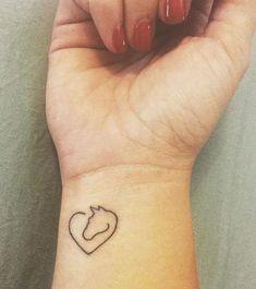 Mini Tattoos, Little Tattoos, Body Art Tattoos, Small Tattoos, Cute Simple Tattoos, Simplistic Tattoos, Pretty Tattoos, Cute Tattoos, Small Horse Tattoo