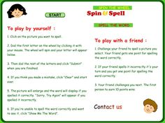 Spelling games - A great range of spelling games for all key stages - particulary SEN.