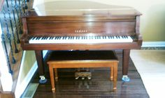 "Yamaha 5'3"" GH1 Baby Grand Piano MUST SELL. All original; EXCELLENT condition. MOVING OUT OF STATE, MUST SELL.  Beautiful Classic Satin Walnut Cabinet. The Cabinet is in Perfect Condition and has No Scratches. The Soundboard, Pin Block, Bridges, and All Action Parts are in Perfect Condition. Crystal Clear Tone and very Responsive Piano Action. Includes matching bench with leather top.    Price is $5,750 or Best Offer. Moving services not provided. Priced under market value…"