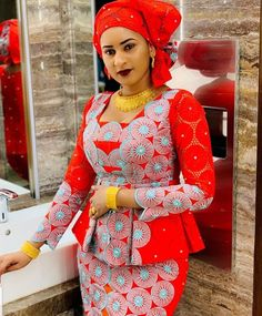 latest ankara skirt and blouse styles for ladies: Fabulous ankara skirt and blouse you should rock for parties Latest African Fashion Dresses, African Dresses For Women, African Print Dresses, African Print Fashion, Africa Fashion, African Attire, Ankara Fashion, African Men, African Prints