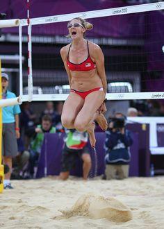 #KerriWalshJennings jumping for Gold #Olympics #WildWingCafe