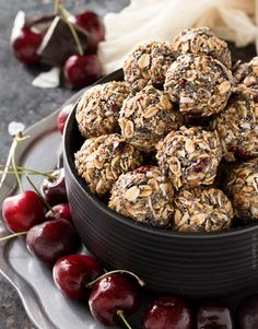 Get the energy boost you need with these deliciously easy Chocolate Cherry Almond Energy Balls!