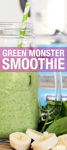 Go green! This smoothie is so yummy and packed with nutritious spinach.