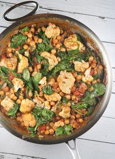 One Pot Coconut Chickpea Curry #recipe