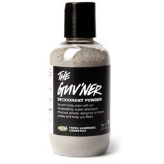 The Guv'ner has come to us fresh from the LUSH kitchens- and it's our strongest, most effective deodorant yet. An odor-busting blend of sage, lavender and patchouli in a super absorbent charcoal and lycopodium base, The Guv'ner was created by the boys (or more specifically, by LUSH co-founder Mark) for the boys. Odor simply doesn't get past this powerful blend. Mark even personally tested it every day for months. His conclusion? The Guv'ner is top dog!