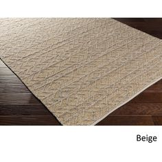 Hand-Woven Lewis Indoor Rug (8' x 10') (Beige), Brown, Size 8' x 10' (Silk, Nature) #IndoorRugs