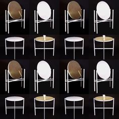 KUU - reversible table and mirror - Elina Ulvio Multifunctional Furniture, Modular Design, Furniture Design, Furniture Ideas, Small Apartments, Dining Chairs, Mirror, Memphis, Finland
