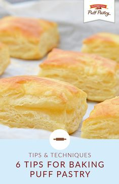 The possibilities are endless when you have Pepperidge Farm® Puff Pastry Sheets. Become an expert in the kitchen with these 6 easy tips for baking Puf Pastry Dough Recipe, Puff Pastry Dough, Puff Pastry Sheets, Flaky Pastry, Savory Pastry, Choux Pastry, Puff Pastry Desserts, Puff Pastry Recipes, Rough Puff Pastry