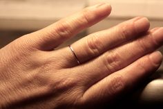 Very Thin Gold Band 1mm 14k White Gold Wedding by RainaLeeStudios, $119.00