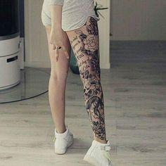 Tattoo Beine Teilweise Komplett Po Legs Partially