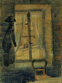 Window in the Bataille Restaurant, 1887  Vincent van Gogh