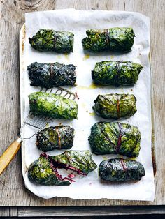 These rainbow chard rolls are sure to be a crowd pleaser. Rainbow Swiss Chard Recipe, Rainbow Chard Recipes, Swiss Chard Recipes, Lamb Recipes, Vegetarian Recipes, Healthy Recipes, Healthy Food, Spinach Rolls, Curd Recipe