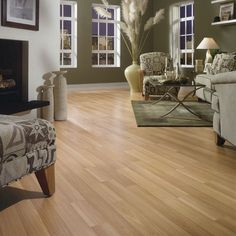 The Light Cherry Laminate Flooring Decorated In Living Room Can Enlarge Your Space Visually Meanwhile Color Makes Whole Place Bright