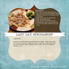 Recipes We Love: Lazy Day Strognaoff