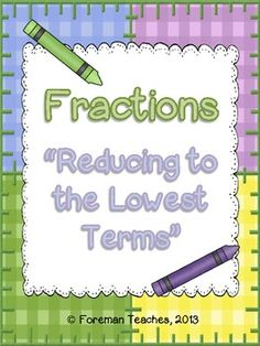 math worksheet : fractions worksheet  reducing fractions to lowest terms c  ma  : Fractions In Lowest Terms Worksheets