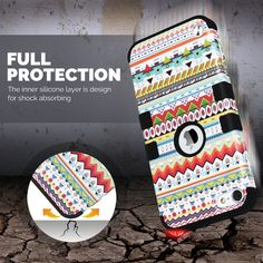 Amazon.com: ULAK iPod Touch 5 case,iPod Touch 6 Case,Hybrid 3 Layer Hard Pattern Case Cover with Silicone Soft Shell Inside Case for Apple iPod Touch Generation 5th 6th (Green Tribal/Black): Cell Phones & Accessories