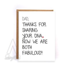 Dad Birthday Card Funny Christmas From Daughter Happy Kids Greeting