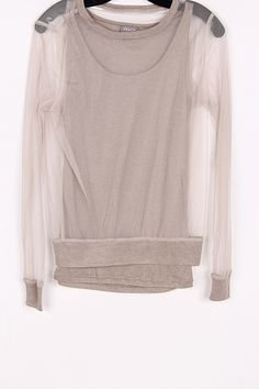 Sheer top layered with a cute tank