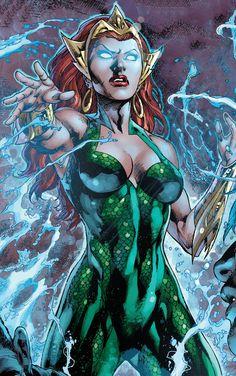 Mera in Justice League # 15 - Art by Ivan Reis, Joe Prado, Rod Reis Marvel Dc Comics, Mera Dc Comics, Dc Comics Art, Comics Girls, Dc Heroes, Comic Book Heroes, Comic Books Art, Comic Art, Aquaman